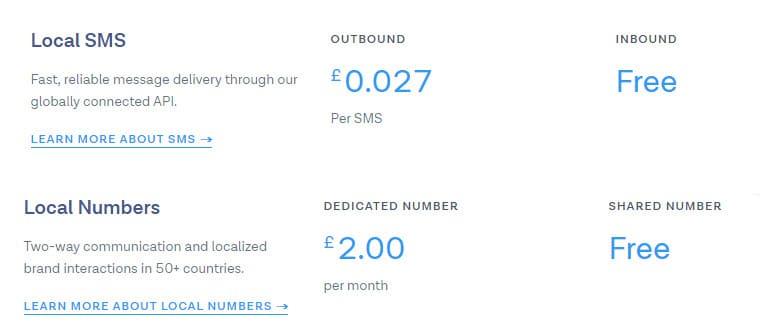 Messagebird SMS Gateway Prices